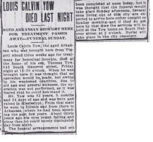 Louis Calvin Yow obit 001